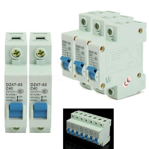 10-63A Miniature Circuit Breaker DZ47-63 AC230//400V 1 Pole Overload Proetction