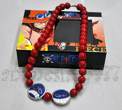One piece Portgas D Ace Cosplay Necklace Costume New Free Shipping