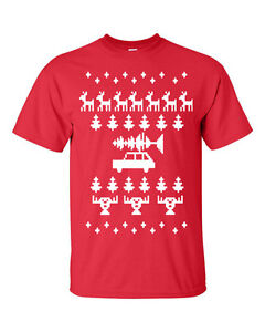 Ugly Christmas Sweater Design Car W Tree On Roof Funny
