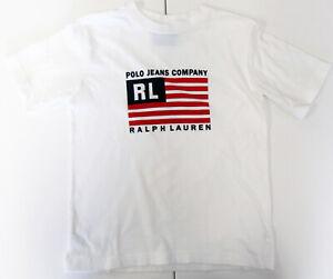 the latest d8d0b 312d0 Details zu Ralph Lauren,Neuwertig,Jungen,T-Shirt,Weiß,Aufdruck,7  (USA),Gr.122