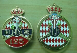 set Of 2pcs Car Grill Badge Emblem Enamled Logos Yacht Club De Monaco Vehicle Parts & Accessories