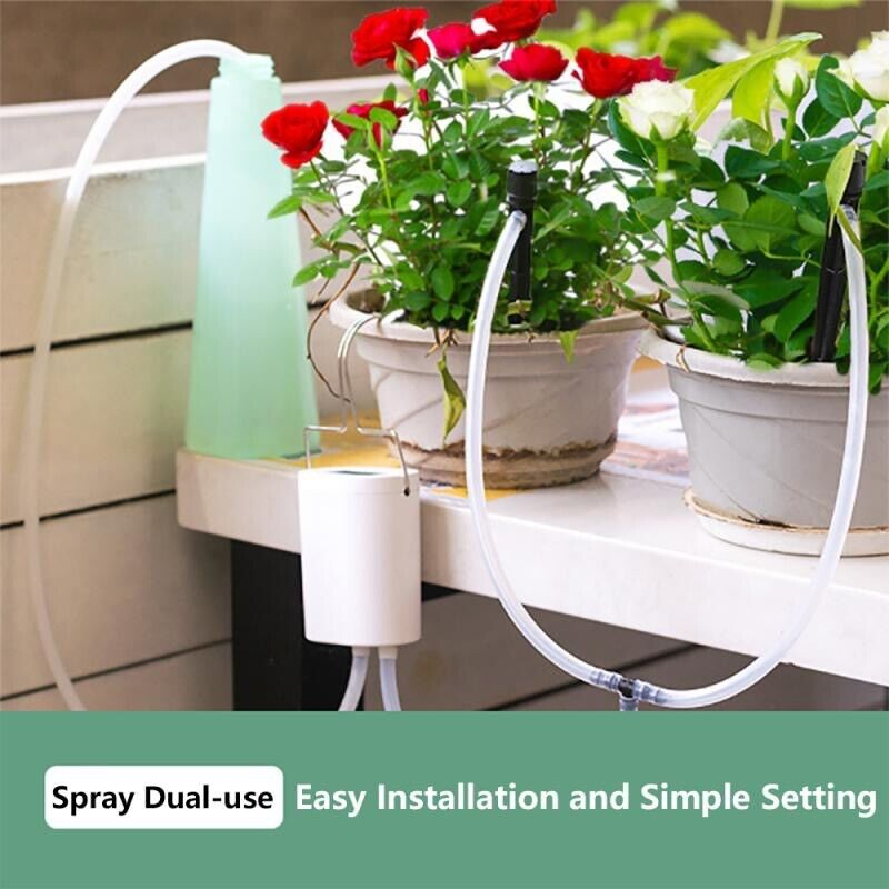 Automatic Watering System For Indoor Houseplants Drip Irrigation 8 Drip Heads