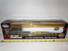 Key City Transport International Semi With Van Trailer  By DCP  1/64th Scale
