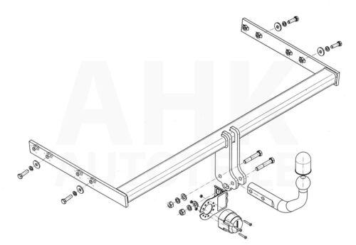 Für Audi A3 8P 3-Tür Anhängerkupplung starr+ES 13p ABE