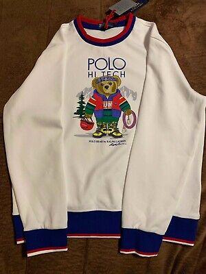 Polo Ralph Lauren Men/'s Polo Bear Fleece Sweatshirt Vintage Hi Tech Stadium  XXL