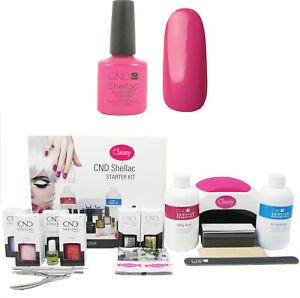 CND-Shellac-Hot-Pop-Pink-Nail-Starter-Kit-Choice-of-Lamp-UV-LED-24W-36W-48W
