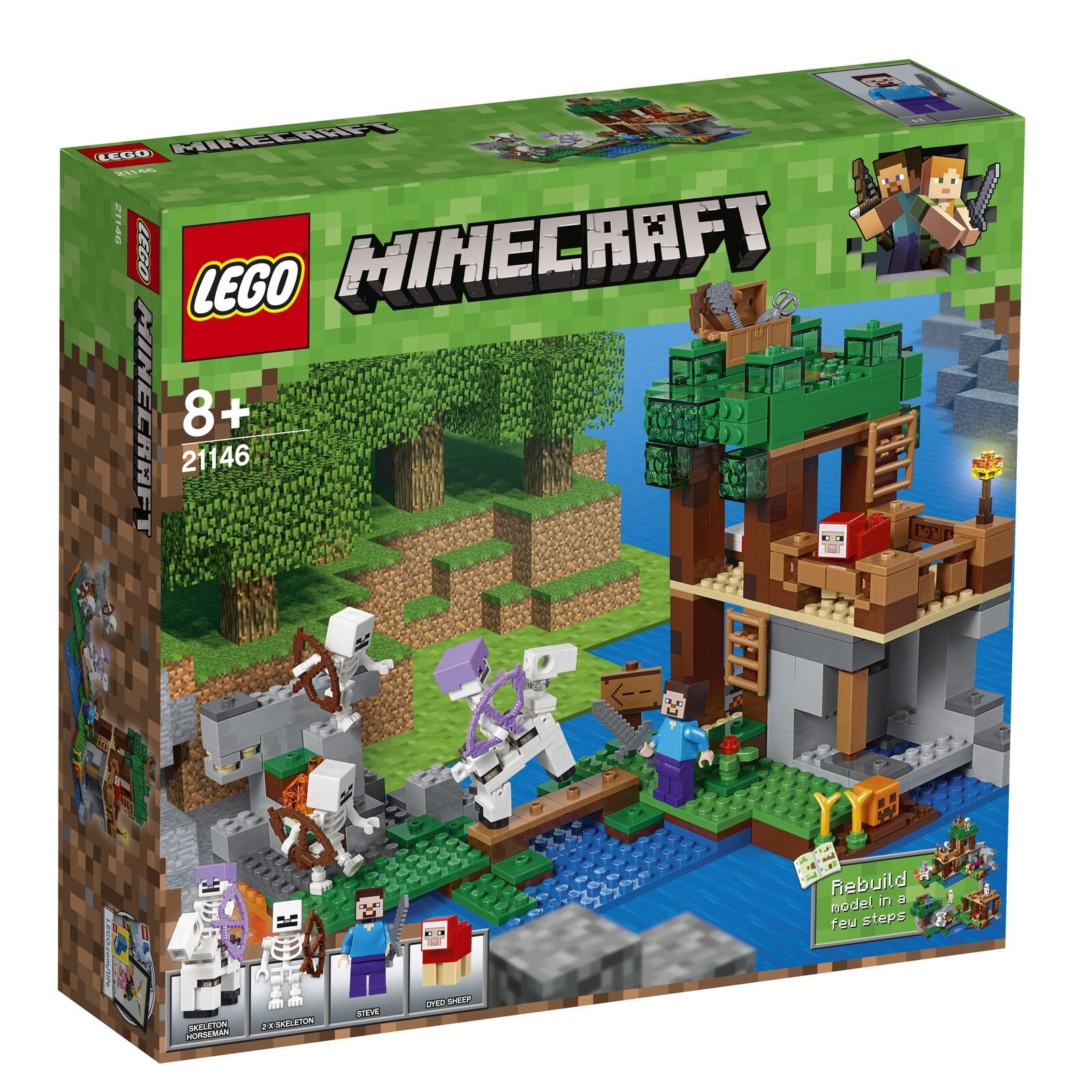 Lego Minecraft 21146 The Skeletons Come New And In Original Box Ebay
