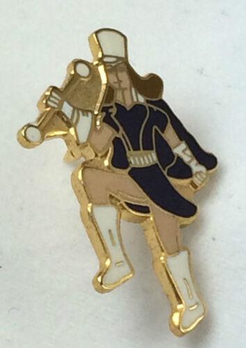 Majorette Cheer Leader Dark Blue Top Quality enamel lapel pin badge