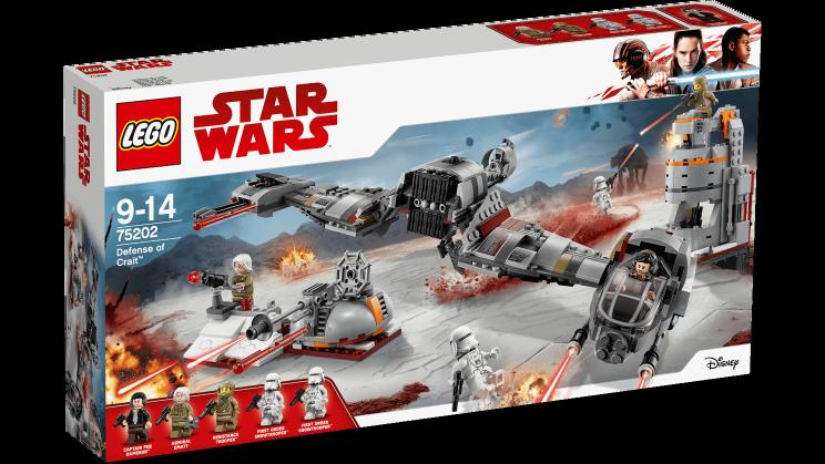LEGO 75202  Defense of Crait™- STAR WARS 9-14anni