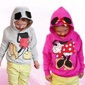 7b2b9d8786a Kids Boy Girls Mickey Mouse Long Sleeve Hoodies Sweatshirt Jumper ...