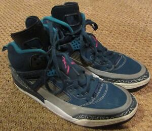 the latest c7737 6cfb3 Image is loading Nike-Air-Jordan-Spizike-Space-Blue-Pink-Wolf-