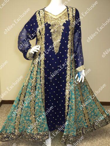Salwar Kameez Pakistani Indian Party Wear Designer Shalwar Embroidery M, XXL