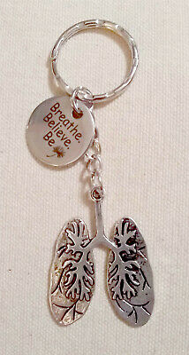 Lungs Key Ring with the Dandelion Charm