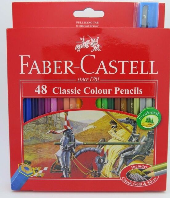 Faber Castell Classic Colour Pencils W Sharpener 48/Pack 115858*