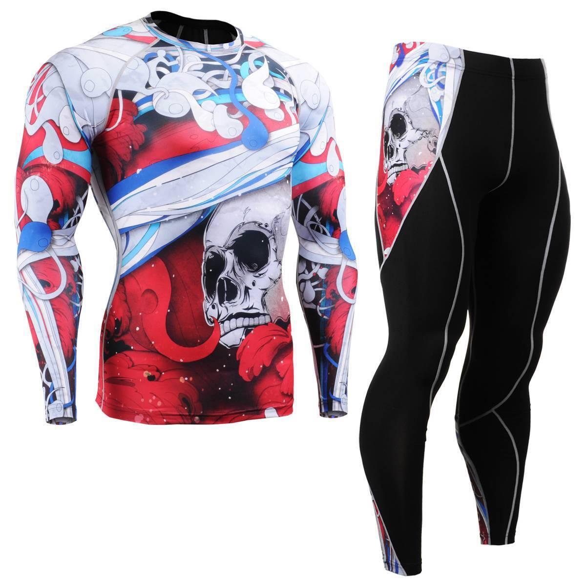 FIXGEAR & CFL/P2L-B19R SET Compression Shirts & FIXGEAR Pants Skin Tights MMA Training Gym 8c5aaf