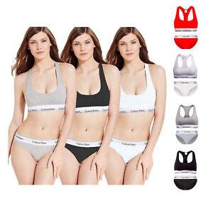 Calvin-Klein-Womens-Underwear-Bralette-Brief-Set-Racerback-Bra-and-Bikini