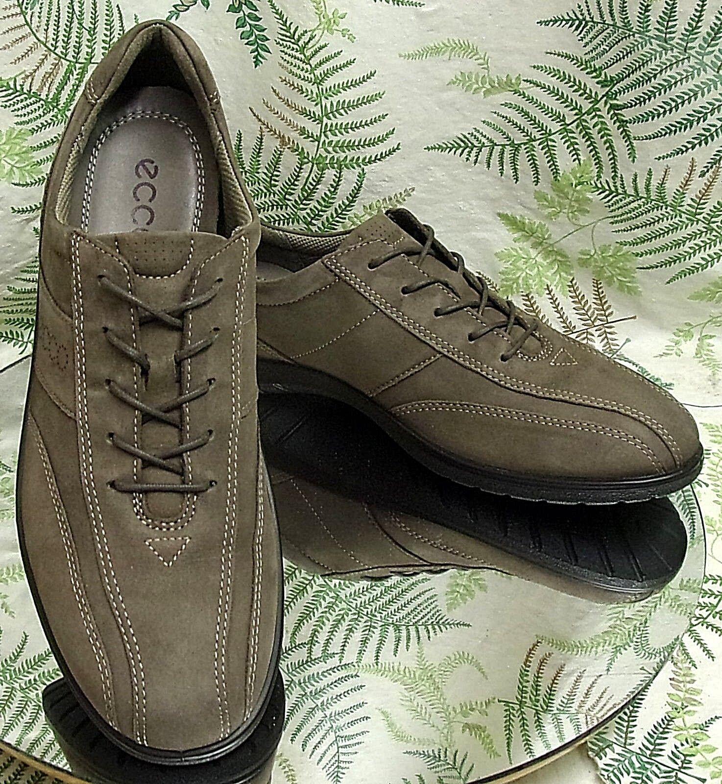 Ecco Ecco Ecco gris Cuero Tenis Zapatos Caminar confort con cordones para mujer Talla 10 10.5 UE 41  Nuevos productos de artículos novedosos.