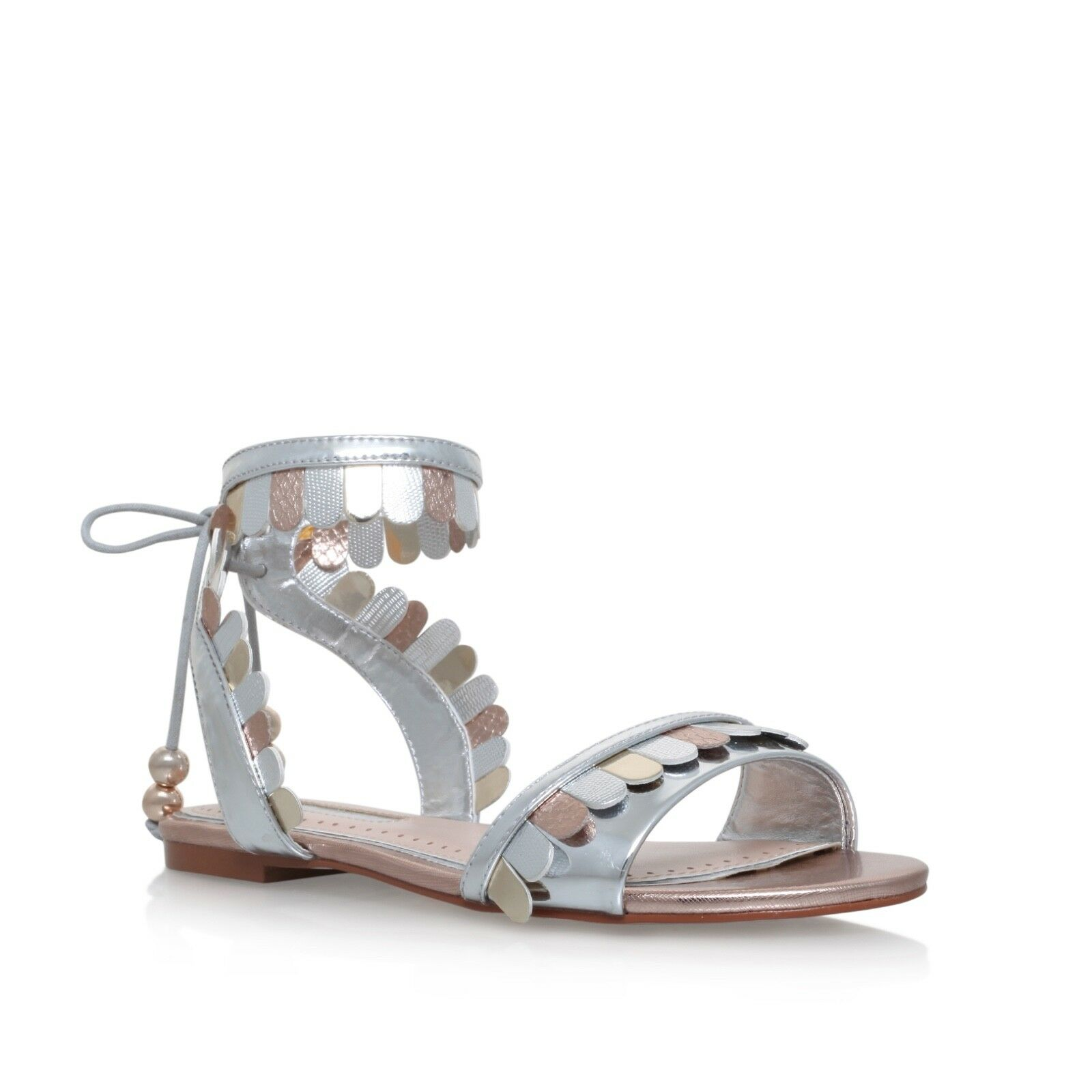 Kurt Geiger Silver Sandals Size 4 EU 37 Miss KG KG KG Brand New in Box 28b4cf