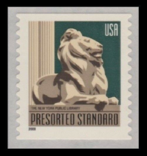 2000 10c New York Public Library Lion, Coil SA Scott 34