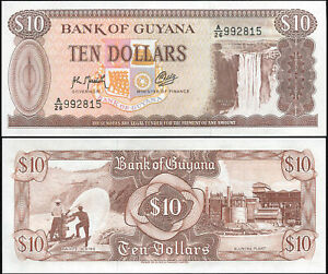 Guyana 10 Dollars. NEUF ND (1993) Billet de banque Cat# P.23i