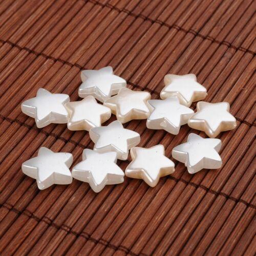 8 mm Perlen Dekoperlen Drahtsterne Hochzeit Kunststoffperle Wachsperlen 3-6