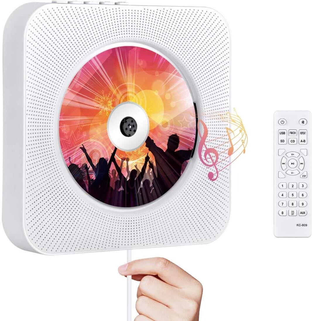 Reproductor de CD portátil; Reproductor con Bluetooth; Reproductor de CDs