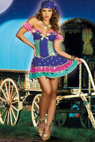 J56 Ladies Mystical Gypsy Circus Fortune Teller Fancy Dress Halloween Costume