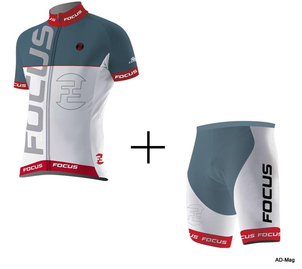Maillot + Cuissard Short Renforcé Vélo Femme - FOCUS Race Bioser Lady T.M L NEUF