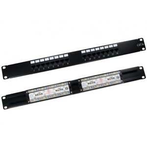 16-Port-Cat5e-Patch-Panel-1U-19-034-Network-Rack-Mount-RJ45-Ethernet
