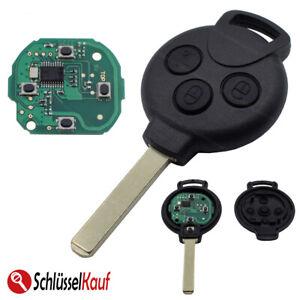Auto Schlüssel Fernbedienung 433 MHz Sender passend für Smart 451 Fortwo Coupe