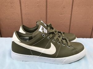 EUC Nike Sweet Legacy Men's US 12 429873-201 Dark Olive Green Leather Shoes A4