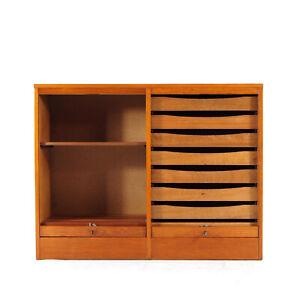 Retro Vintage Danish Teak Office Filing Cabinet Sideboard 60s 70s Scandinavian