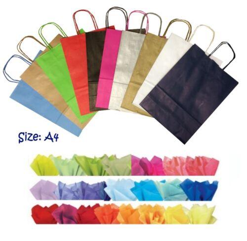 Luz Rosa A4 Papel Regalo Fiesta Bolsas y tejido WRAP ~ Bolsa De Tienda Boutique