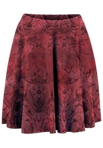 str. 40, Alchemy England Skirt, Rødmønstret, Næsten som