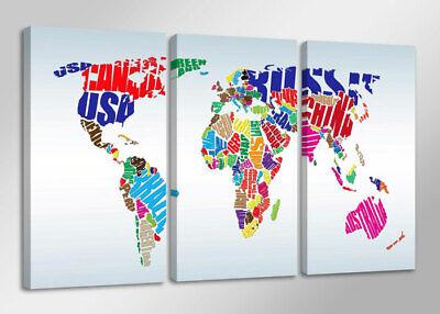 Espressive Quadro Su Tela Quadri Moderni Mappa Mundo 160 X 90 Cm 3 Tele Modello : Xxl 1163 Fornire Servizi Per Le Persone; Rendere La Vita Più Facile Per La Popolazione