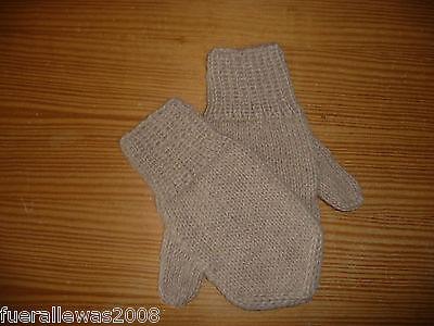 handgestrickt Designer Handschuhe Däumlinge Fäustlinge 100 % Alpaka  Gloves