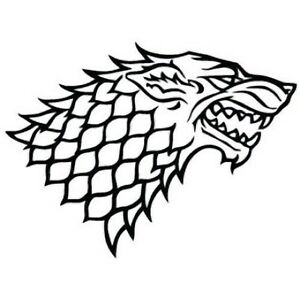 Nice Image Is Loading HOUSE STARK DIREWOLF GAME OF THRONES DECAL VINYL
