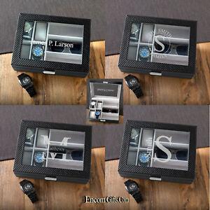 Mens-Watch-Sunglasses-Jewelry-Storage-Box-Organizer-Personalized-Glass-Top-Case