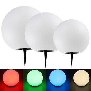 Kugelleuchte Ø 40cm Erdspieß Garten Leuchte LED RGB Farbwechsel Lampe Außen