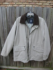 07988f053 Details about ROUNDTREE YORK OUTDOORS Mens Size L Khaki Parka with zip out  lining EUC