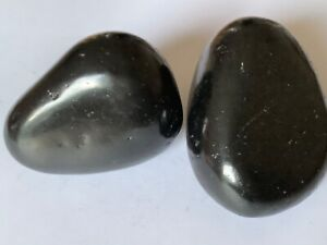 Two-Pieces-Shungite-Pebble-Rock-Total-290g-Protect-from-EMF-Purifies-Water