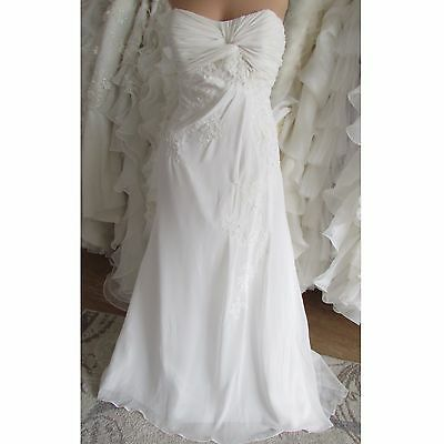 JUST FOR YOU IVORY WEDDING DRESS UK 12/14