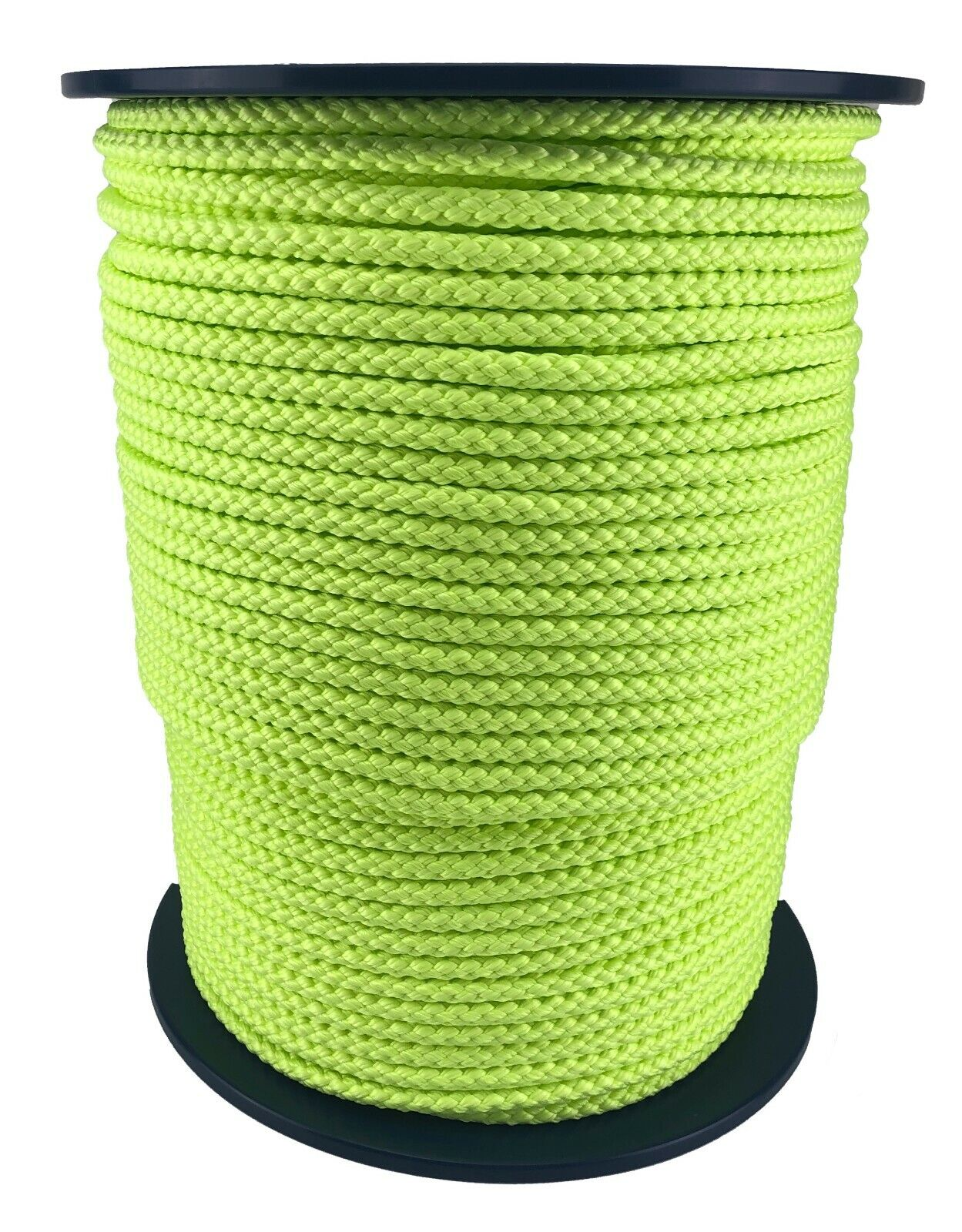 12mm Fluorescent Yellow Polypropylene Rope x 50 Metres Braided Sailing Boating