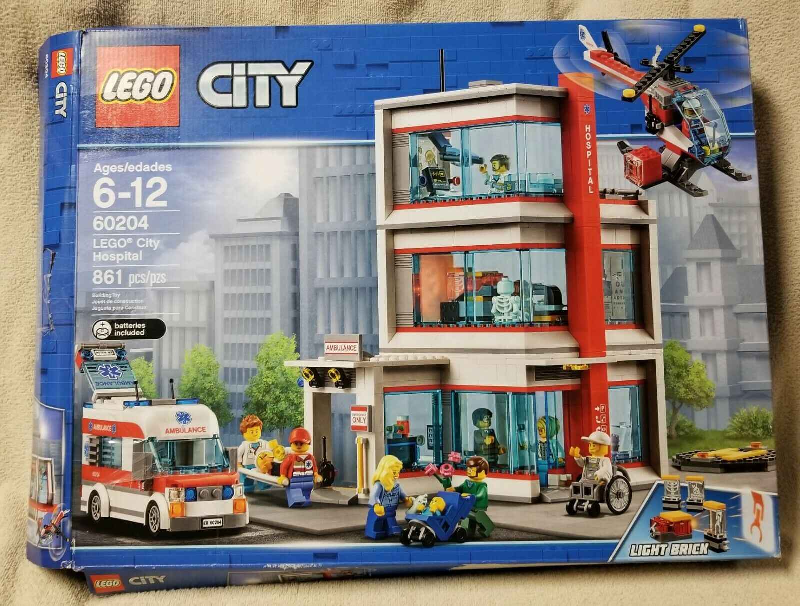 Lego City 60204 hospital 861 piezas Bolsas de caja abierta sin usar Sellado 11 Minifiguras