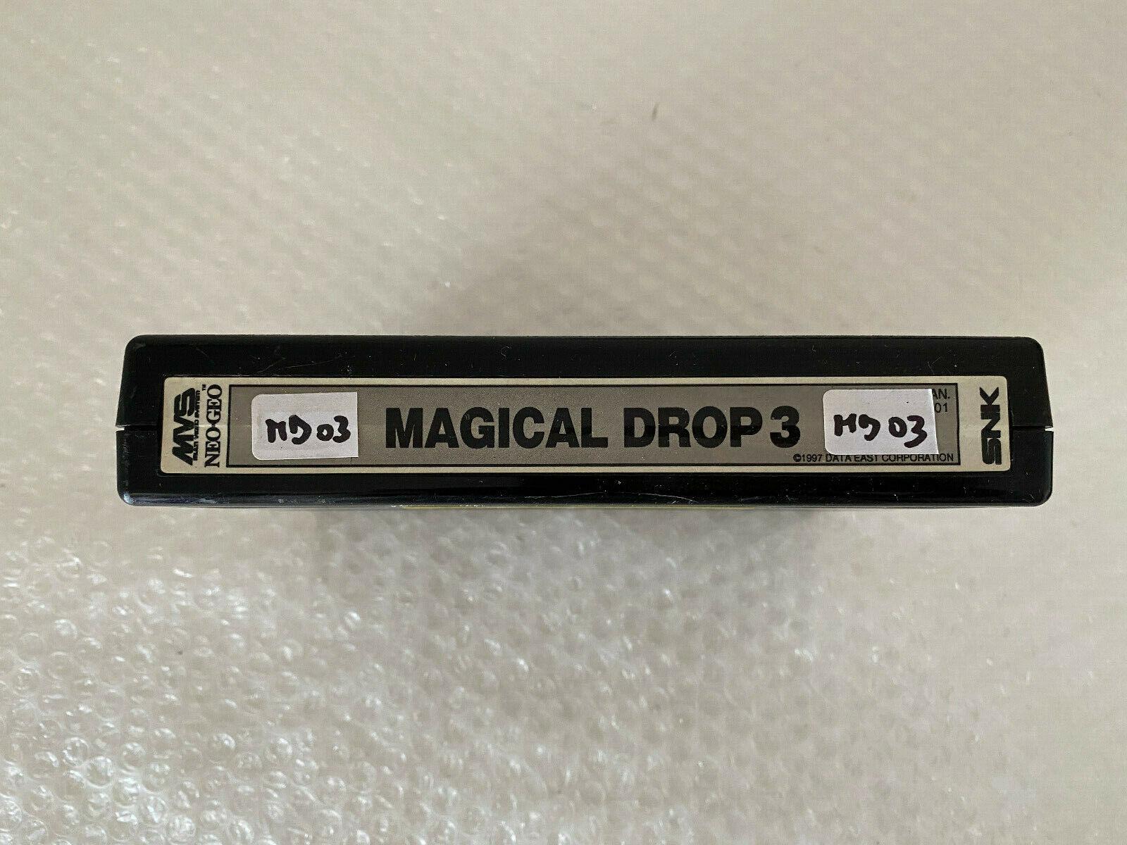 Snk Neo Geo MAGICAL DROP 3 Mvs Hollographic Label Nmint condition 100% original