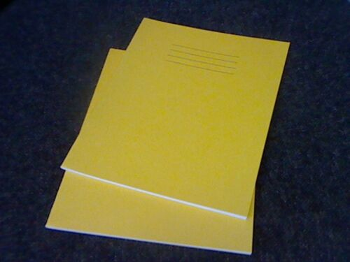 """10 EXERCISE NOTEBOOKS-YELLOW 80 page-40 SHEET-FT//M  8 X 6.5/"""" BARGAIN SPECIAL"""