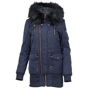 zuverlässige Qualität das beste Sportschuhe Details zu Khujo Damen Winterjacke mit Kapuze Kunstfell Fake Fur Winter  Jacke Damenjacke