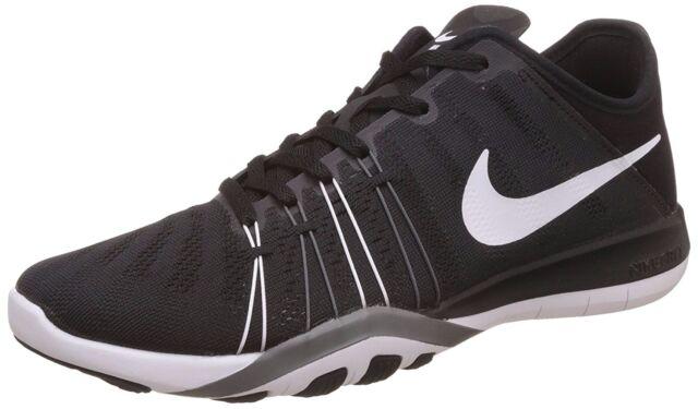 f64103bdeba ... nike womens tr 6 running training shoes black white cool grey size 8 ...