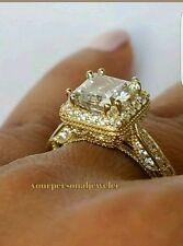 14k real Yellow Gold 1.50 carat Princess Cut Engagement Wedding Ring S 5 6 7 8