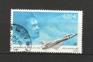 FRANCE 2003 AIR POST HIGH VALUE €4.00 PILOT & JET COMP. SET 1 STAMP SC#C65 USED